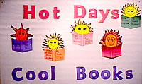 Hot Days Cool Books | 2001 Bulletin Boards | Classroom Decor